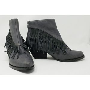 """Sbicca """"BYANCA"""" fringe and knotted fringe bootie"""